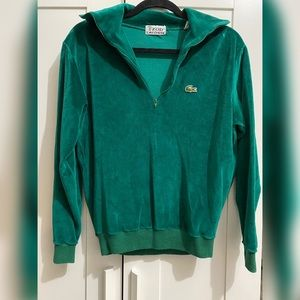 Vintage Lacoste/Izod velour Zip up sweater